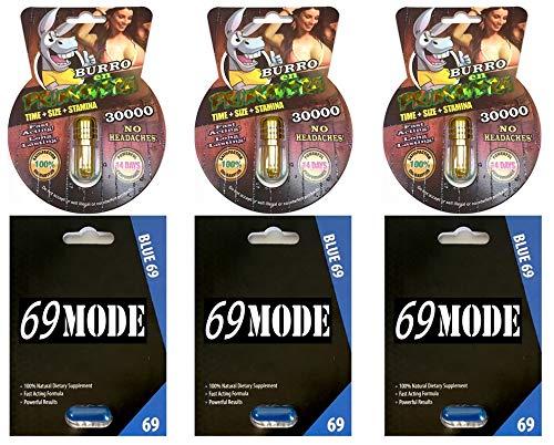 New Burro EN Primavera 30000 All Natural Male Enhancement Sex 3 Pills 69 Mode 3 Pill