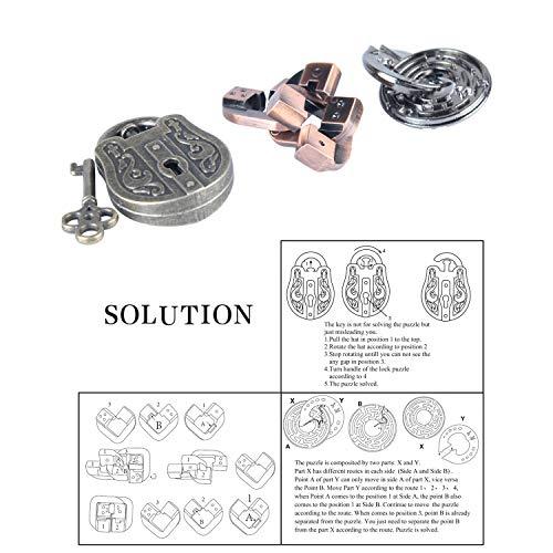 Brain Teaser Metal Puzzle 3D Unlock Interlocking Puzzle Adults Child Educational Toy