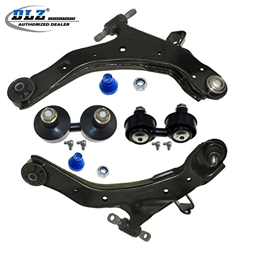DLZ 4 Pcs Front Suspension Kit-2 Upper Control Arm Ball Joint Assembly 2 Stablizer Sway Bar Links Compatible with 2001 2002 2003 2004 2005 2006 Hyundai Elantra K620328 K620327 K90358