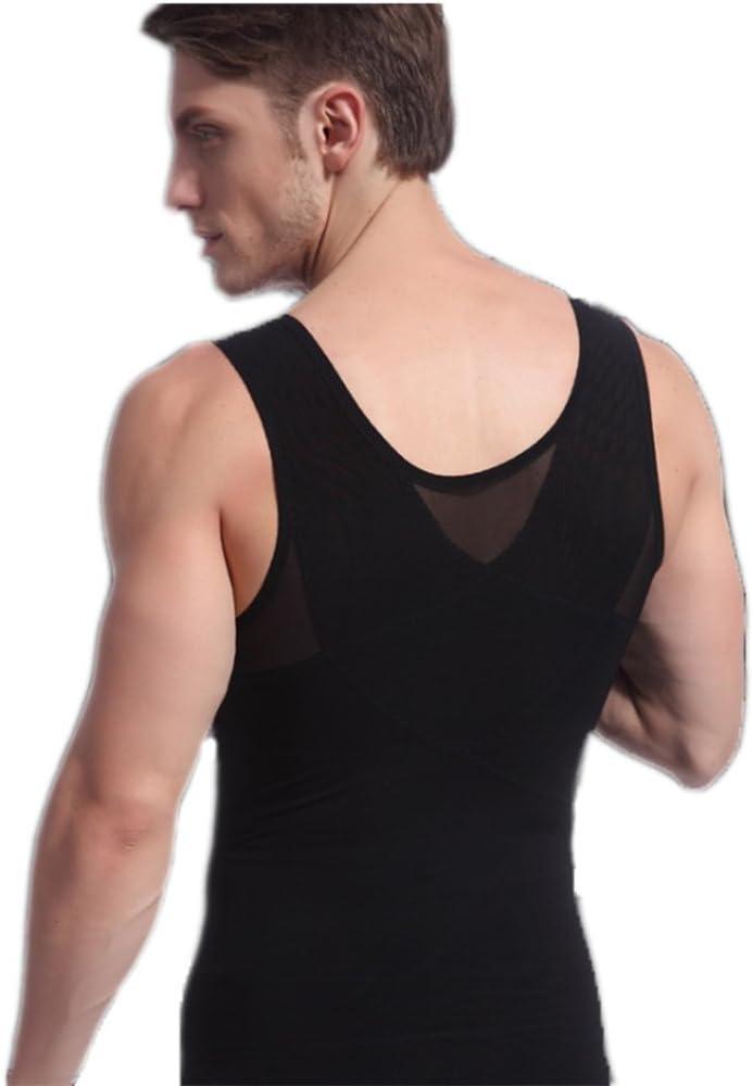findthem3859 Gynecomastia Chest Compression Shirt to Hide Man Boobs Moobs Shapewear Slimming Body Shaper Vest Newt