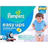Pampers Easy Ups Training Pants Boys, Super Pack, Size 6 (4T/5T), 60 Count