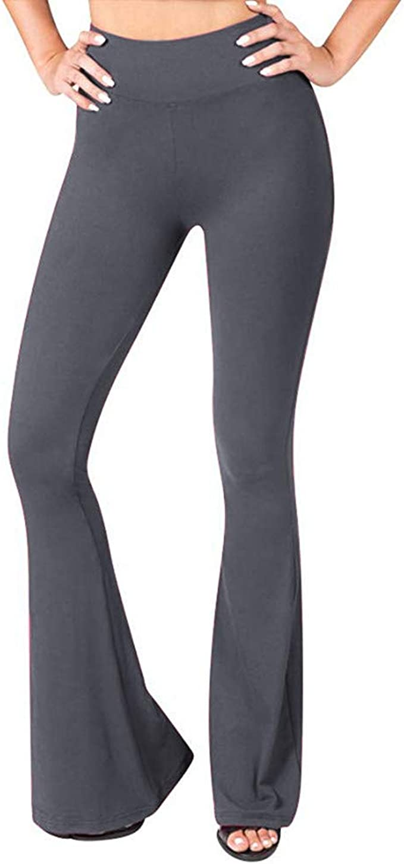 Pantalones Deportivos Mujer Yoga - Sólido Talle Alto Patas Anchas ...