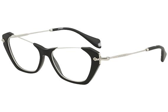MIU MIU Eyeglasses MU 04OV 1AB1O1 Black 52MM at Amazon Men\'s ...