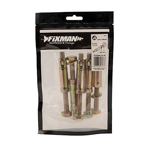 Fixman 943501 Masonry Shield Anchors Bolt-Type M10 x 108mm Pack of 5