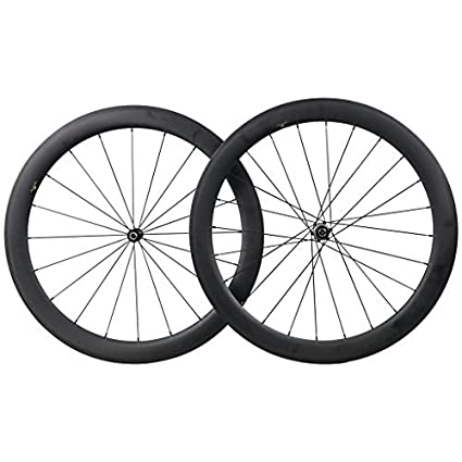 c2f7b29746e Amazon.com : ICAN 50mm Carbon Road Bicycle Wheelset Clincher ...