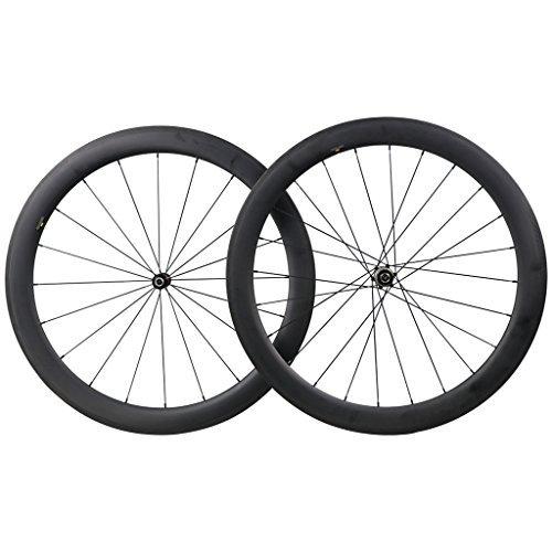 ICAN 50mm Carbon Road Bicycle Wheelset Clincher Tubeless Ready Rim Novatec AS511SB/FS522SB Hub Shimano 10/11 Speed 1580g