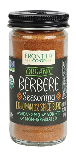 Frontier Berbere Seasoning ORGANIC 2.3 oz Bottle (Roasted Red Potatoes And Onion Soup Mix)