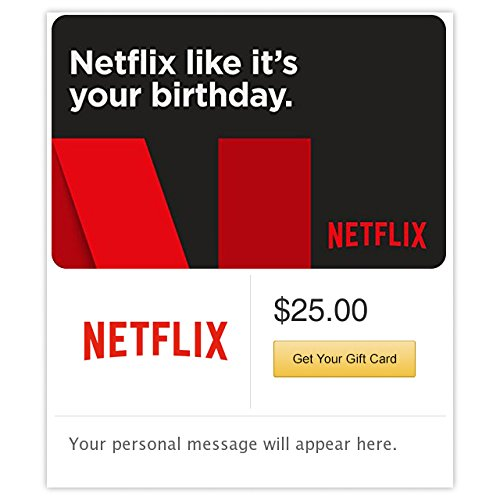 Netflix Birthday Gift Cards - E-mail - Email Gift Card Birthday