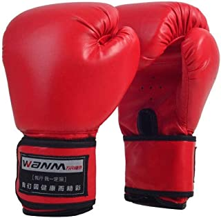 8haowenju Gants de Boxe, Gants de Boxe de Taekwondo, Noir/Rouge, Haute qualité Choix du consommateur