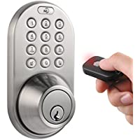 MiLocks Keyless Entry Deadbolt Door Lock (Satin Nicke)