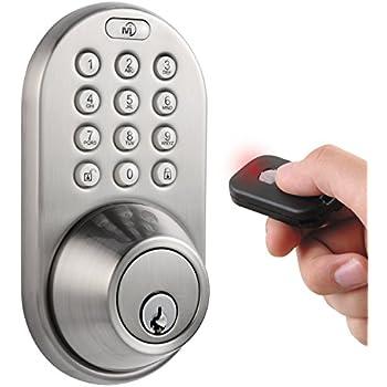 MiLocks QF 02SN Keyless Entry Deadbolt Door Lock With Electronic Digital  Keypad And RF Remote