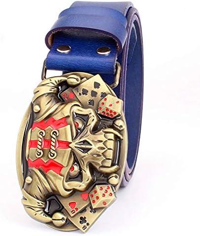 Belt For Men Punk Belt Buckle Skull Cow Leather Hip Hop Belt Mens Gift