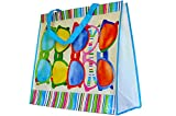ReBagMe™ Extra Large Very Strong Reusable Grocery Bag - Laminated Recycled Shopper Tote - Very Large gift Bag - Great Waterproof Beach Bag (19x17x8 Inches, Sunglasses)