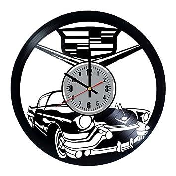 Cadillac Car Vinyl Clock Record Wall Clock Fan Art Handmade Decor Unique Decorative Vinyl Clock
