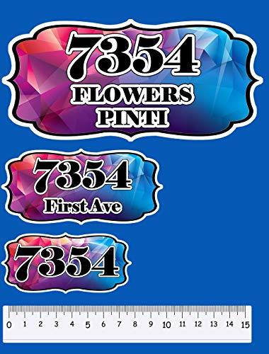Restickables Personalized Home Plaques ~ Vinyl Address & Number Signs - Prism