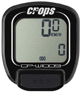 Crops CP-W1009 Wireless - Ciclocomputador  ( sin cables ) ), color negro, talla 4 cm