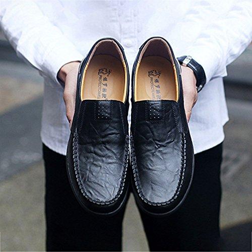 Cuero de los 38 de de Hombres de Ocasionales Negocios Zapatos de Mocasines los Moda Zapatos Hombres Lujo Mocasines la Amarillo Marron de Zapatos Hombres Genuino conduccion Planos de de Negro SODIAL los BqzAx7Tq