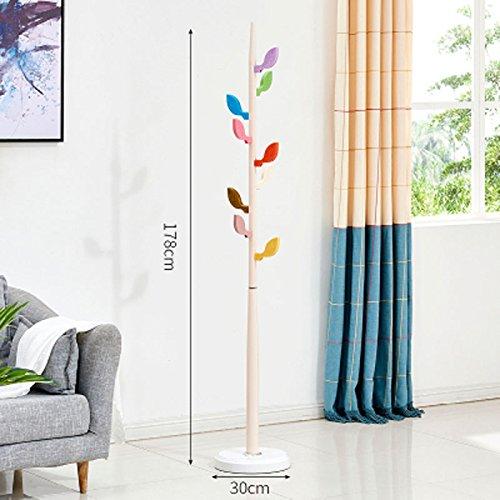 XM ZfgG Wrought Iron Coat Rack Floor Practical Simple Modern Bedroom Living Room Hanger Home Children Creative (Color : Beige)