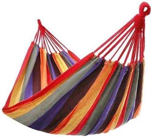 Hamaca de Lona de jardín para Dos Personas, Hamaca Colgante de Viaje portátil, Hamaca Colgante, Hamaca para Acampar al Aire Libre, RD1: Amazon.es: Hogar