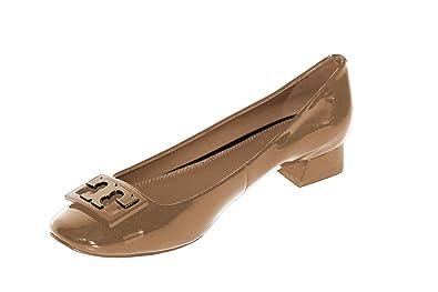 c35d3c3e03fb Tory Burch Women s Jill Pump Patent Leather Pump Heel Shoes 52824 Tory  Beige (7 M