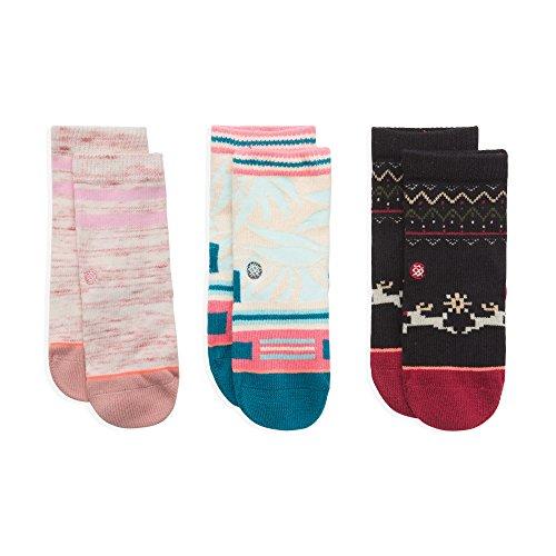 Stance Toddler Girls' Sleigh Ride Winter Holiday Reindeer Sock Box Set, Multi, 2-4 (Sleigh Shape)