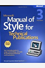 Microsoft Manual of Style for Technical Publications Paperback