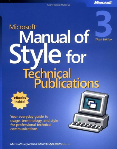Pdf Technology Microsoft Manual of Style for Technical Publications