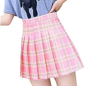Carolilly Girl Pleat Skirt Harajuku Preppy Style Plaid Skirts Mini Cute Japanese School Uniforms Ladies Jupe Kawaii Skirts