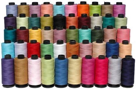 Nuevo 50 x bobinas grandes 100% puro algodón hilo de coser M ...
