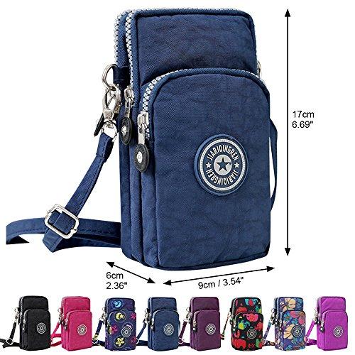 Womens Shoulder Elephant Phone Bag Black Wallet Blue Long Zipper Crossbody Cckuu Purse Wristlet Navy Mini ZYd17qw