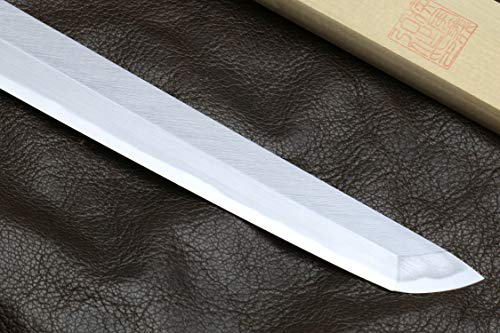 Yoshihiro Hongasumi White Steel Sakimaru Takobiki Sushi Sashimi Japanese Knife (10.5'' (270mm)) by Yoshihiro (Image #4)
