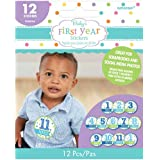 Amscan Baby Shower Month by Month Boys Stickers