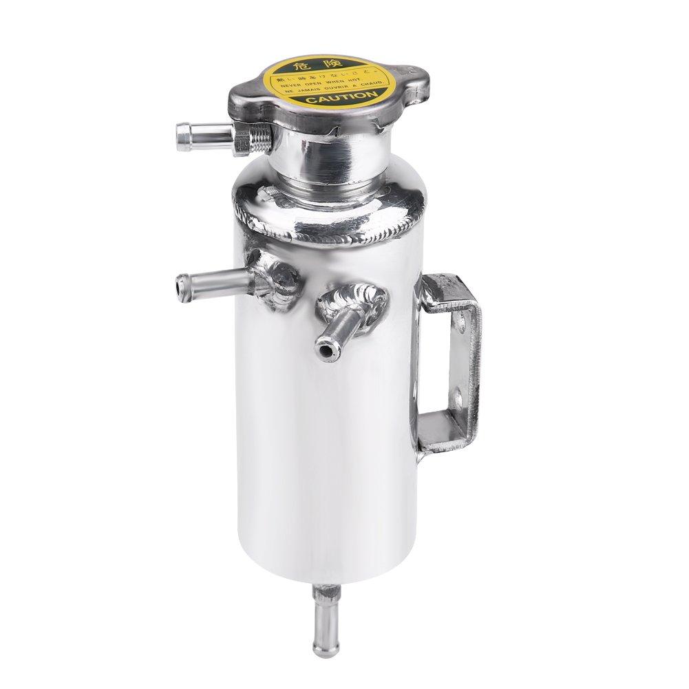 Qiilu Kit de dep/ósito de refrigerante universal de 350 ml para rebosadero de coche SUV