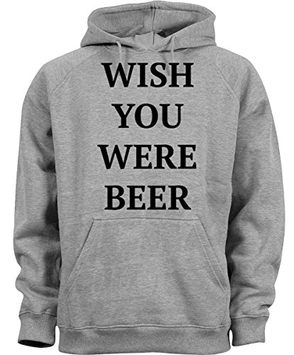 Famous Quote Beer (Wish You Were Beer Funny Famous Quote Men Women Unisex Grey Melange)