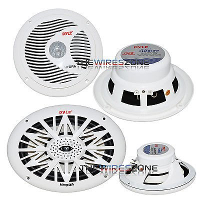 Pyle 2-Way White Waterproof 6x9 & 6.5