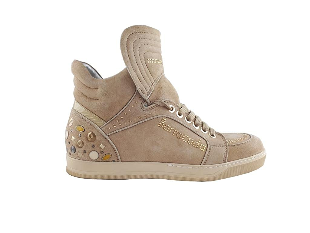 Barracuda scarpe da da da ginnastica Donna in Camoscio con Applicazioni e Zeppa Interna 4d5459