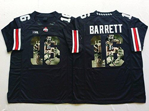 Special Men's J.T. Barrett #16 Ohio State Buckeyes College Football Jersey Black XXX-Large
