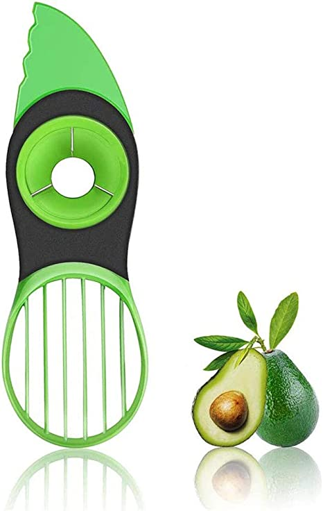 Kitchen Tools Avocado Slicer Cutter Peeler Tool Color Green Very Practical Corer