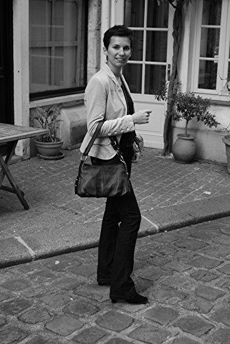 Borsa a mano in pelle donna - Modello Lobé - Borsa a tracolla - 36 x 21 x 10 cm (L x L x A) ROUGE FONCE Sitio Oficial Para La Venta Comprar Barato De Italia 322o8HpKv
