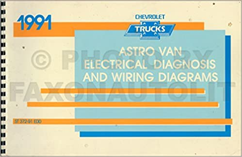 1991 Chevy Astro Van Wiring Diagram Manual Original Chevrolet Amazon Com Books