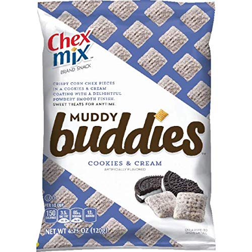 Chex Mix Muddy Buddies Cookies N Cream Snack, 42 Count by Chex Mix Muddy Buddies Cookies N Cream (Image #1)