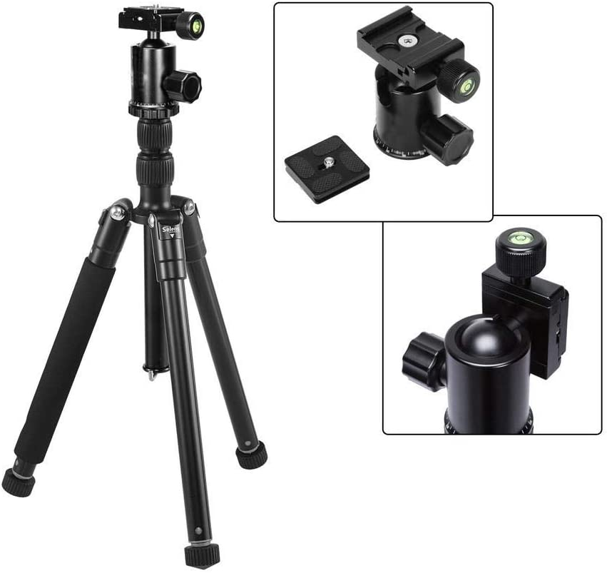 TAESOUW-Accessories 62 Inch Tripod Detachable Monopod with Ball Head for DSLR Camera 150cm Color : Black, Size : One Size