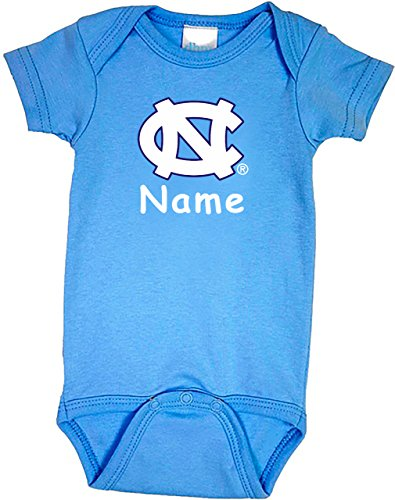 (Future Tailgater North Carolina UNC Tar Heels Personalized Color Baby Onesie (3-6 Months))