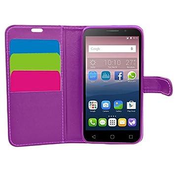 SAMRICK Ejecutivo - Carcasa cartera de cuero para Vodafone Smart Turbo 7, color púrpura: Amazon.es: Electrónica