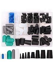 170pcs High Temp Silicone Rubber Cap & Plug Assortment - Masking System Kit for Powder Coating, Painting, Anodizing, Plating & Media Blasting