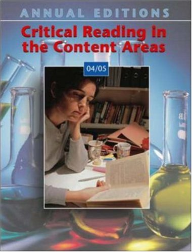 Annual Editions: Critical Reading in the Content Areas 04/05