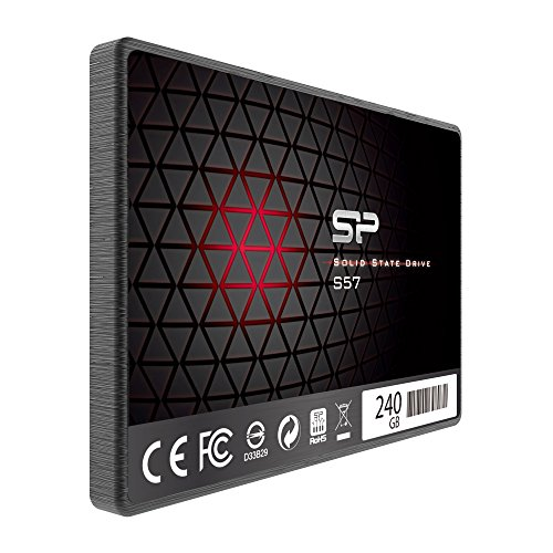 Silicon Power/Marvell Controller 240GB S57 (SLC Cache Boost with Read up to 500 MB/s) SATA III Internal Solid State Drive- Free-download SSD Health Monitor Tool Included by Silicon Power (Image #1)