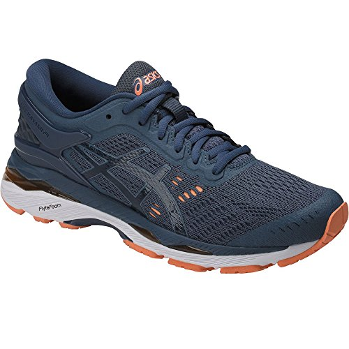 Asics Women's Gel-Kayano 24 Running Shoe, Smoke Blue/Dark Blue/Cantaloupe 9.5 by ASICS