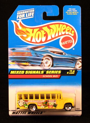 SCHOOL BUS * MIXED SIGNALS SERIES #4 of 4 * HOT WHEELS 1998 Basic Car Series * Collector #736 *