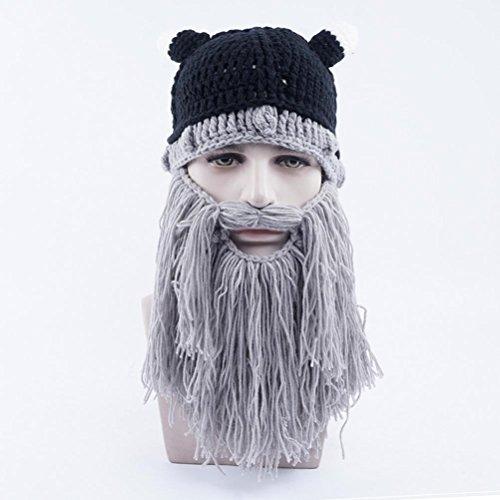 Punto Sombreros Bearded Gracioso Gorras Grey Gorras Unisex Invierno Gorros Halloween Light Beanie De Vagabond wUx4Xqx
